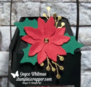 Stampin Up, Stampin' Up!, Merry Christmas Monday 2020 Week #8, Christmas Lantern, Poinsettia dies, created by Stampin Scrapper.  For more cards, gifts, ideas, scrapbooking and 3D projects go to stampinscrapper.com, Joyce Whitman