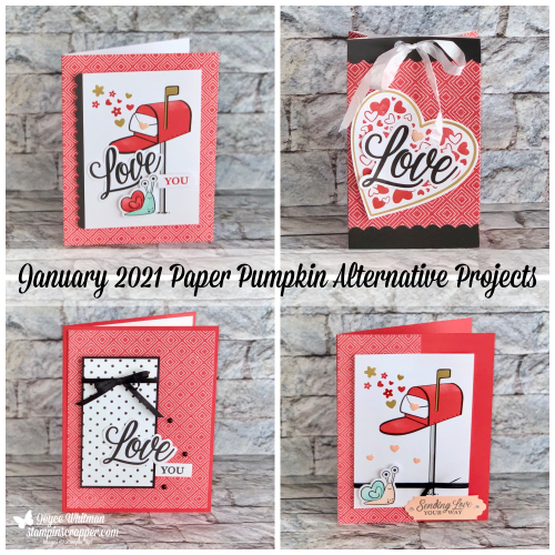 Stampin Up, Stampin' Up!, January 2021 Paper Pumpkin, Valentine's Day, Hearts, Alternative Projects, created by Stampin Scrapper.  For more cards, gifts, ideas, scrapbooking and 3D projects go to stampinscrapper.com, Joyce Whitman