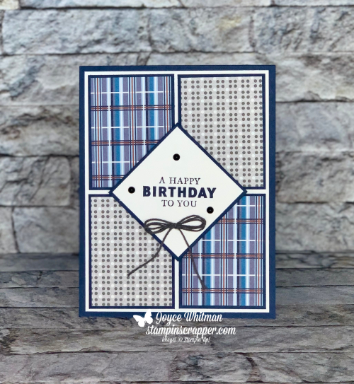 Stampin Up, Stampin' Up! Handsomely Suited stamp set, Suit and Tie dies, Well Suited Bundle, Masculine cards, Tailored Tag punch, Well Suited designer series paper, Birthday cards, created by Stampin Scrapper.  For more cards, gifts, ideas, scrapbooking and 3D projects go to stampinscrapper.com, Joyce Whitman