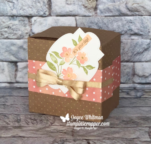 Stampin Up, Stampin' Up!, You're A Peach suite, Sweet As A Peach stamp set, Peach Dies, You're A Peach designer series paper, Mini Jam Jars, Stitched So Sweetly dies, 3D projects, Scalloped Craft Treat Boxes, created by Stampin Scrapper.  For more cards, gifts, ideas, scrapbooking and 3D projects go to stampinscrapper.com, Joyce Whitman
