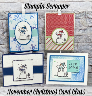 Stampin Up, Stampin' Up!, Snowman Season, Christmas Card Class, created by Stampin Scrapper, for more cards, gifts, ideas, scrapbooking and 3D projects go to stampinscrapper.com, Joyce Whitman