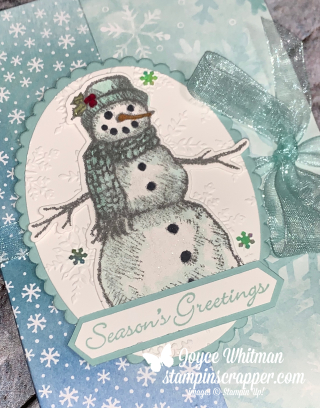 Stampin Up, Stampin' Up!, Merry Christmas Monday 2020, Week #1, Notecard Holder, Snowman, Itty Bitty Christmas and Snow Wonder stamp sets, Stampin' Blends, Classic Label Punch, Snowtime Dies, Winter snow embossing folder, notecards and envelopes, created by Stampin Scrapper.  For more cards, gifts, ideas, scrapbooking and 3D projects go to stampinscrapper.com. Joyce Whitman