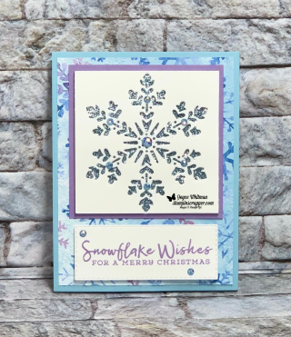 Stampin Up, Stampin' Up! Snowflake Wishes Bundle, Snowflake Wishes stamp set, So Many Snowflakes dies, Snowflake Splendor designer series paper, Classic Label Punch, Layering Oval dies, Stitched Rectangles dies, Stitched Shapes dies, Holiday Extravaganza 2020, created by Stampin Scrapper.  For more cards, gifts, ideas, scrapbooking and 3D projects go to stampinscrapper.com, Joyce Whitman