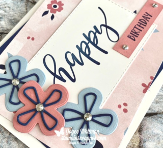 Stampin' Up!, Stampin Up, Pretty Perennial class, Pretty Perennial stamp set, Perennial Petal dies, Sunflower dies, created by Stampin Scrapper.  For more cards, gifts, ideas, scrapbooking and 3D projects go to stampinscrapper.com, Joyce Whitman