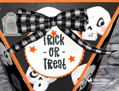 Stampin Up, Stampin' Up!, Cutest Halloween stamp set. Cute Halloween designer series paper, Cute Stars adhesive-backed sequins, gift box, gift card holder, Layering Circle dies, treat holder, Fall Friday 2021 - Week #4, created by Stampin Scrapper.  For more cards, gifts, ideas, scrapbooking and 3D projects go to stampinscrapper.com, Joyce Whitman