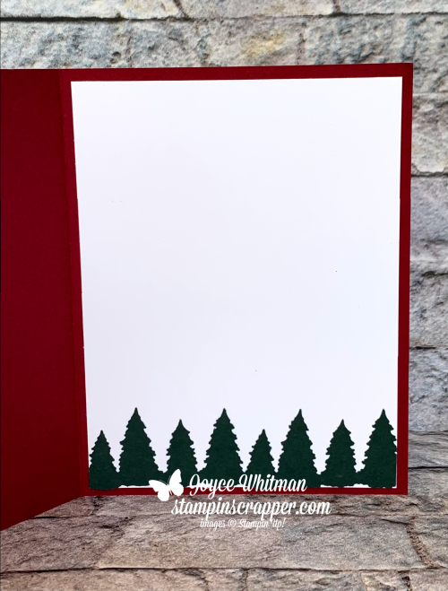 Stampin Up, Stampin' Up!, Christmas Card Class, Christmas, Christmas cards, Tidings of Christmas designer series paper, Scalloped Contours dies, Evergreen Border punch, created by Stampin Scrapper. For more cards, gifts, ideas, scrapbooking and 3D projects go to stampinscrapper.com, Joyce Whitman