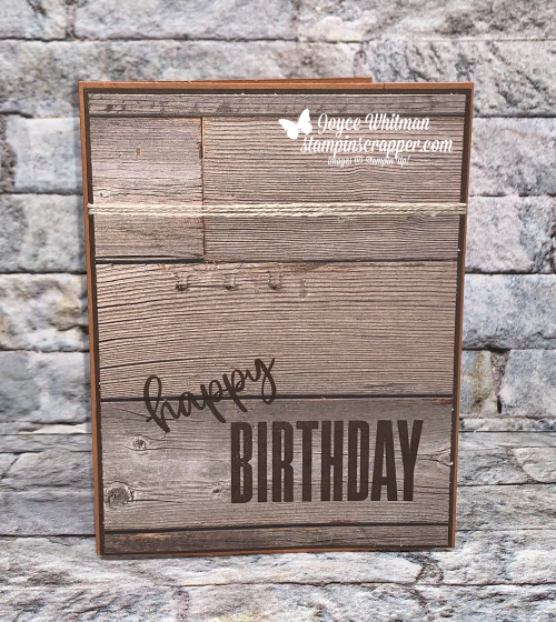 Stampin Up, Stampin' Up!, Happiest of Birthdays stamp set, In Good Taste designer series paper, What's New At Su Blog Hop, Masculine, birthday cards, simple stamping, created by Stampin Scrapper. For more cards, gifts, ideas, scrapbooking and 3D projects go to stampinscrapper.com, Joyce Whitman